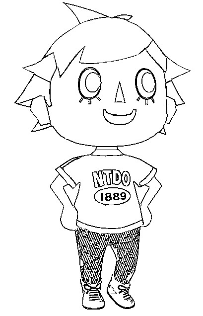 Dibujo para colorear Animal Crossing 3