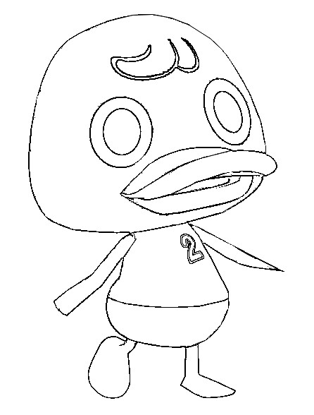 Dibujo para colorear Animal Crossing