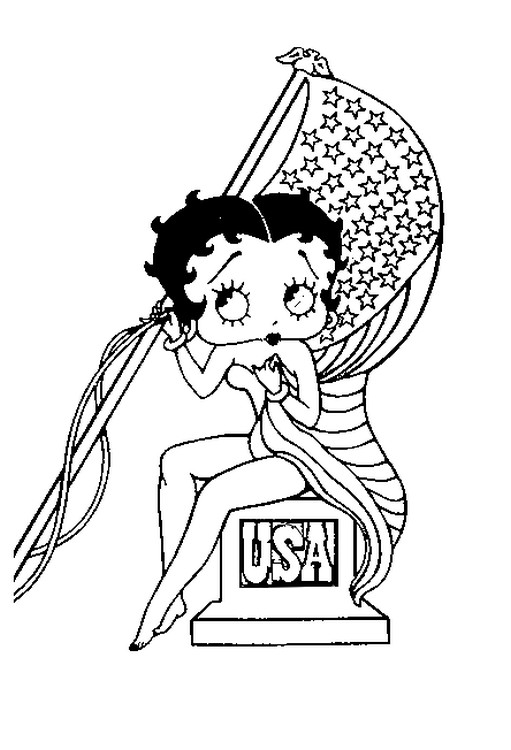 Coloring Page Betty Boop 8