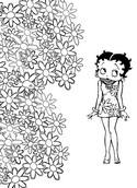 Kleurplaat Betty Boop