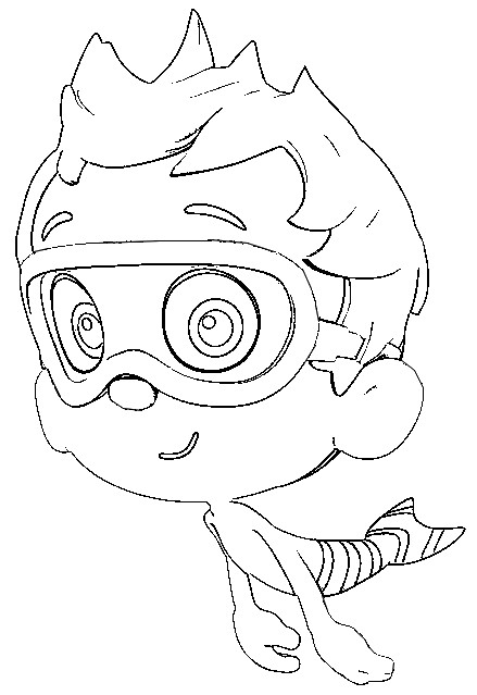 coloring page bubble guppies 1