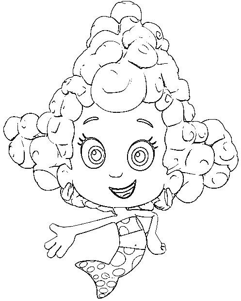 Dibujo para colorear Bubble Guppies 5