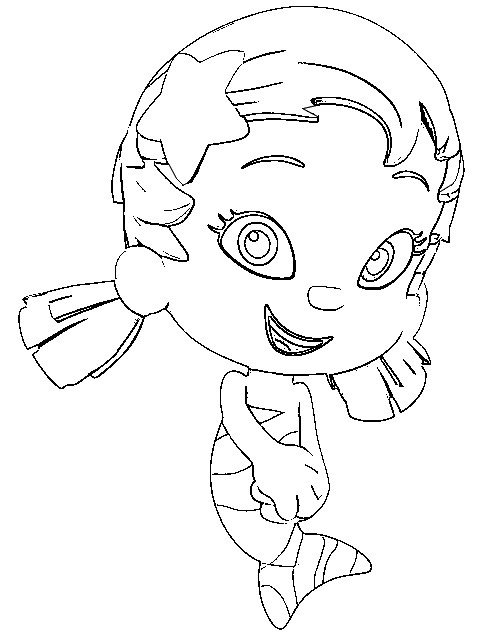 Desenho para colorir bubble guppies