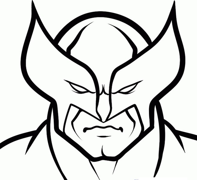 Imagen para colorear de wolverine imagui - Wolverine dessin ...