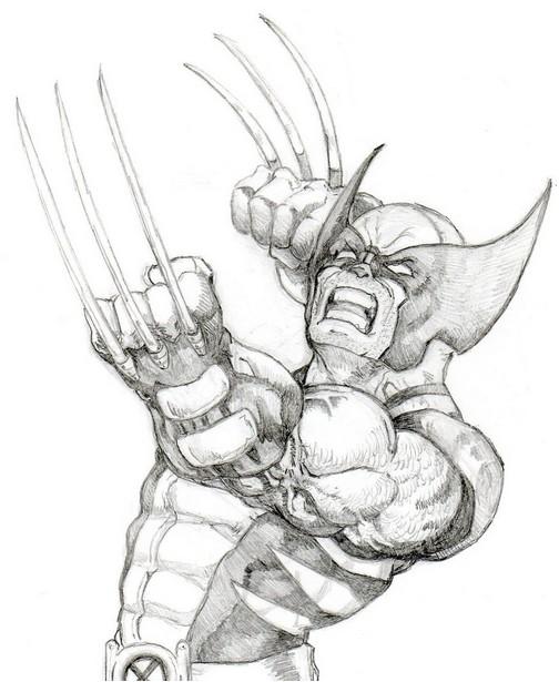 Desenho para colorir Wolverine 8