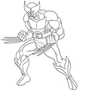 Coloring page Wolverine