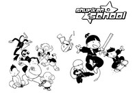 Coloring page Shuriken School