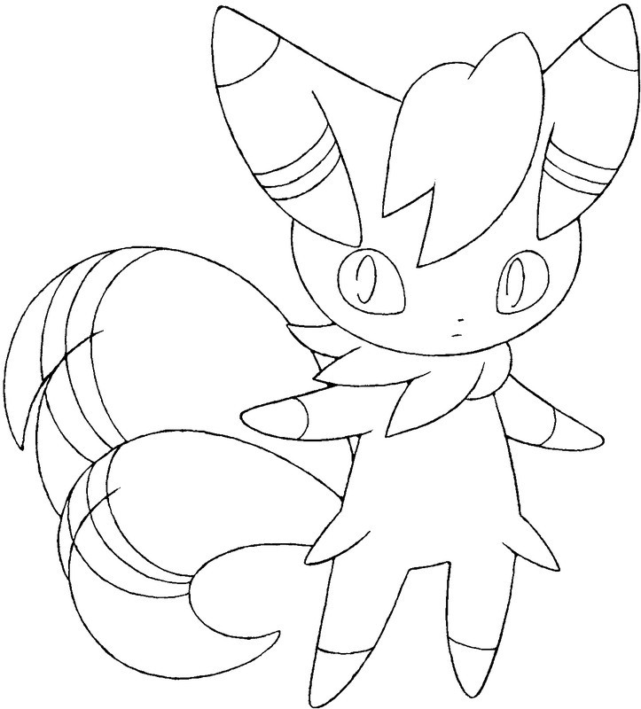 Coloring page Pokemon X Y 1