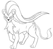 Coloring page 668 - Pyroar - Female form