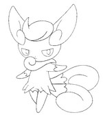 Coloring page 678 - Meowstic - Female form