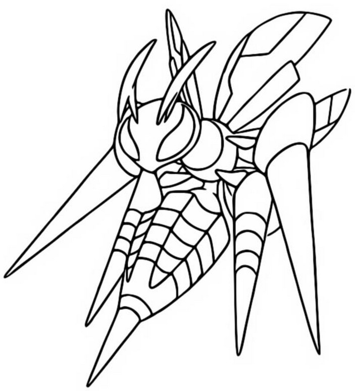 Coloring page Mega Evolved Pokemon Mega Beedrill 15 15