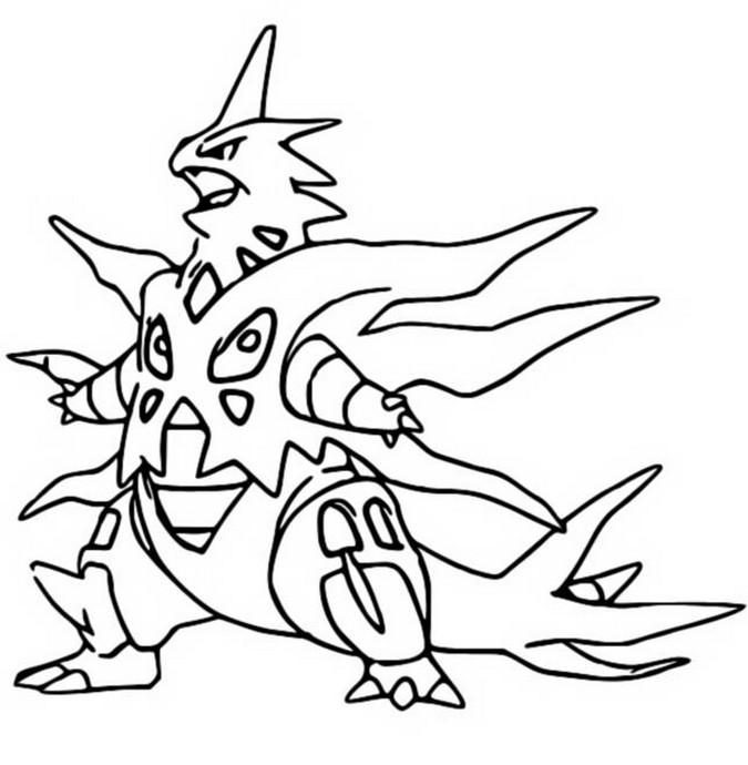 Coloring Page Mega Evolved Pokemon Mega Tyranitar 248 248