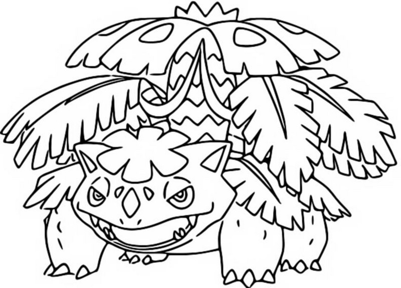 Kleurplaat Bulbasaur Ivysaur Venusaur Coloring Page Mega Evolved Pokemon Mega Venusaur 3 3