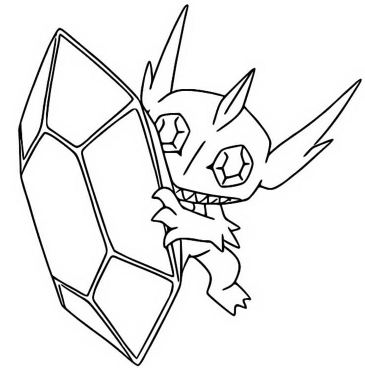 Coloring Page Mega Evolved Pokemon Mega Sableye 302 302 Stop Snoring