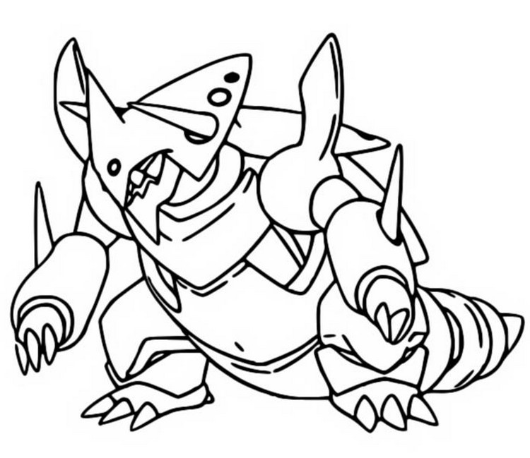 Great Coloring Page Mega Aggron 306