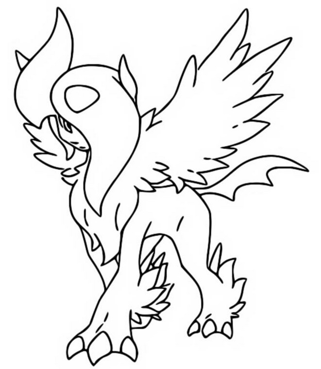 Coloring Page Mega Absol 359