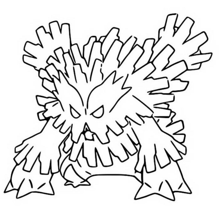 Mega Scizor Pokemon coloring page | Free Printable Coloring Pages | 650x684