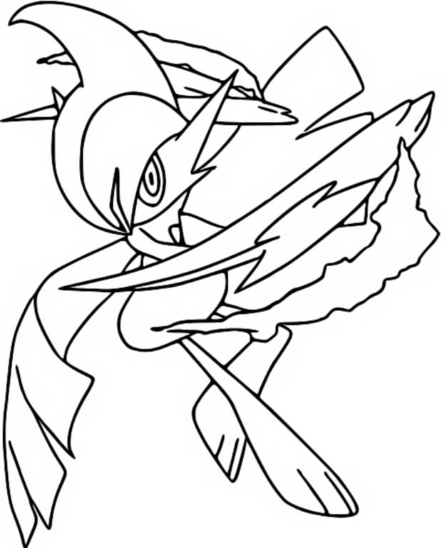 Coloring Pages Mega Evolved Pokemon Drawing