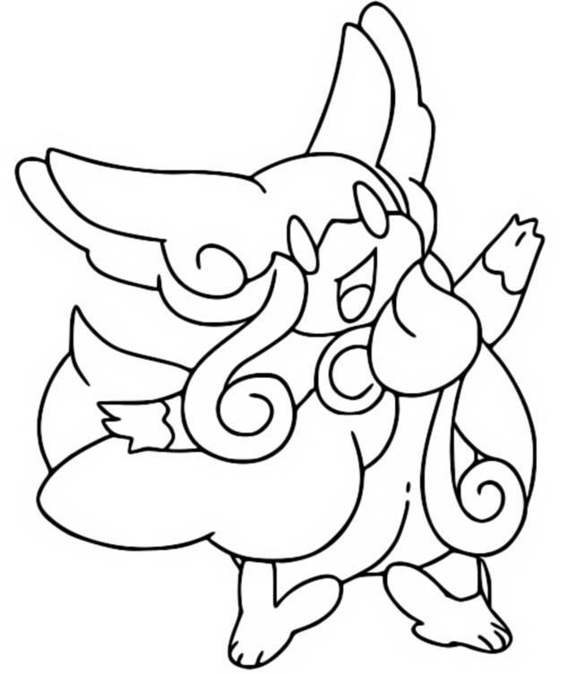 Desenho Para Colorir Pokemon Megaevolucao Mega Audino