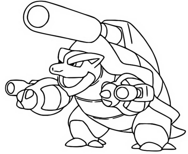 Coloring page Mega Evolved Pokemon Mega Blastoise 9 9