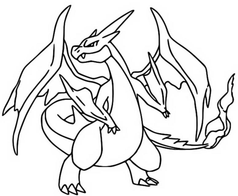 Coloring page Mega Evolved Pokemon : Mega Y Charizard 6 6