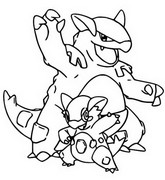 Desenho para colorir Mega Kangaskhan 115