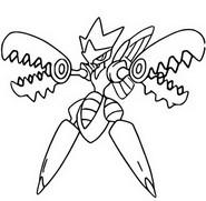 Desenho para colorir Mega Scizor 212