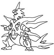 Desenho para colorir Mega Tyranitar 248