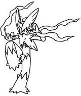 Desenho para colorir Mega Blaziken 257