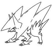 Desenho para colorir Mega Manectric 310