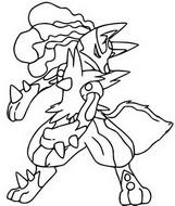 Disegno da colorare Mega Lucario 448