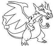 Disegno da colorare Mega X Charizard 6