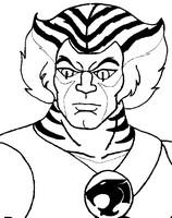 Dibujo para colorear Tigro