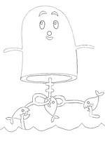 Coloring page Use your private parts as piranha bait