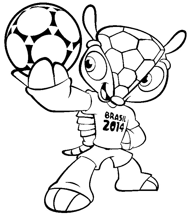 Coloring page 2014 fifa world cup mascot 1 for World cup coloring pages