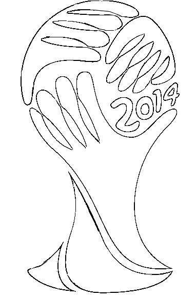 Coloring page 2014 fifa world cup fifa world cup 2014 logo 4 for World cup coloring pages