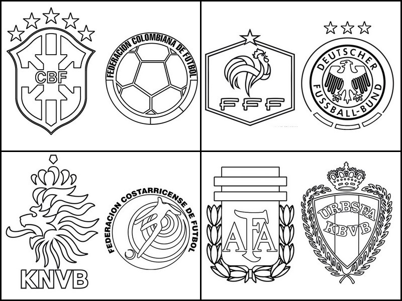 Fifa Colouring Pages World Cup Coloring Pages