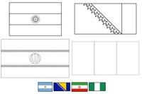 Coloring page Group F: Argentina - Bosnia-Herzegovina - Iran - Nigeria