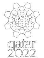 Kleurplaat Logo Qatar 2022