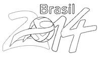 Desenho para colorir Brasil 2014