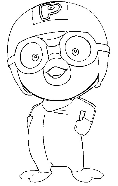 Coloring Page Pororo Pororo The Little Penguin 1 Pororo Coloring Pages
