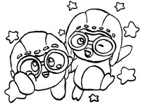 Coloring page Pororo and Kirby