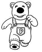 Coloring page Poby