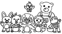 Coloring page Pororo and friends