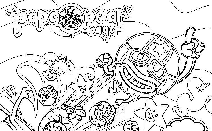 Dibujo para colorear Papa Pear Saga 1