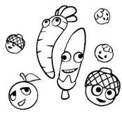 Dibujo para colorear Papa Pear Saga