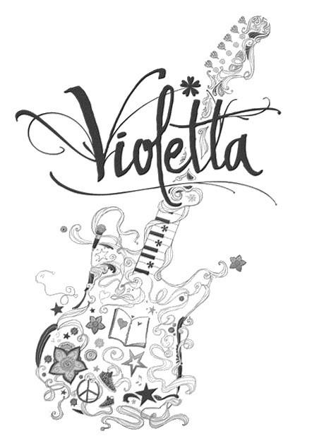 Dibujos Para Colorear Violetta Morning Kids