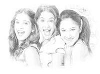 Dibujo para colorear Violetta, Fran, Cami