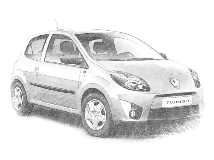 Dibujos para colorear Coches Renault Dibujos para imprimir