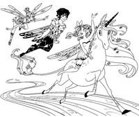 Desenho para colorir Mia, Onchao, Mo, Yuko